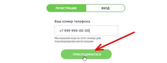 Ввод телефона на официальном сайте friendsclub.ru